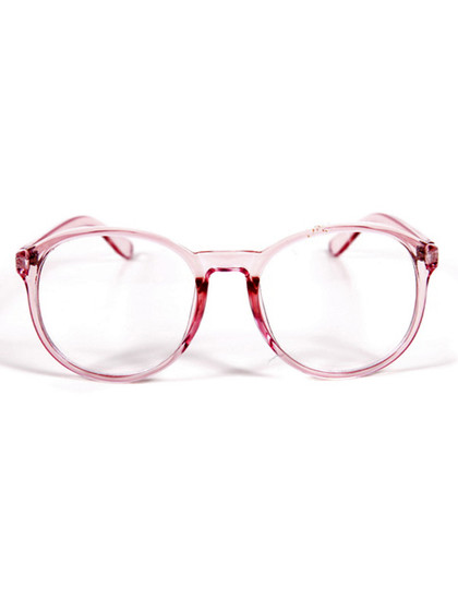 lookatme透明圆框眼镜
