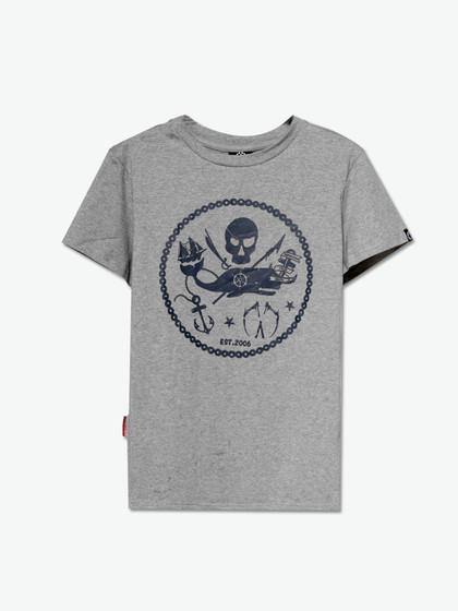 miracle kill空心圆圈海盗短袖t恤