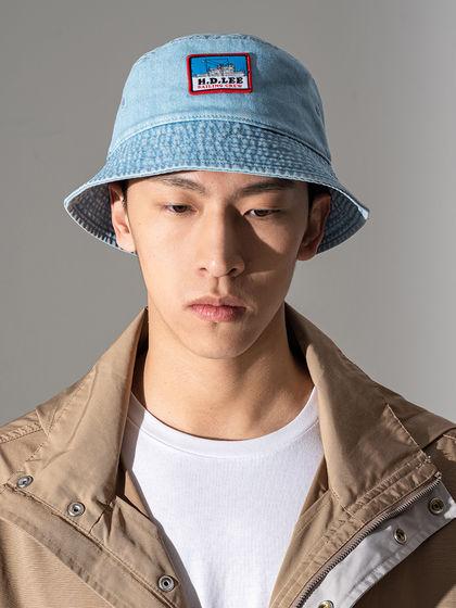 Lee|男款|帽子|Lee 男式LOGO徽章漁夫帽