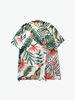 Black Scale|男款|襯衫|Black Scale 花卉滿版印花短袖襯衫