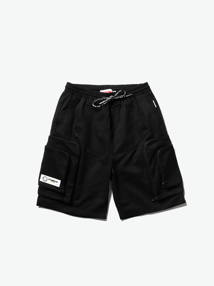 THETHING|男款|短褲|THETHING 疊加立體貼袋拉鏈短褲