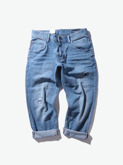 ABLE JEANS|ABLE JEANS|男款|牛仔裤|ABLE JEANS 破洞牛仔八分裤