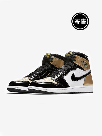 Air Jordan|Air Jordan|男款|运动鞋|Air Jordan 1 Gold Toe AJ1 黑金脚趾