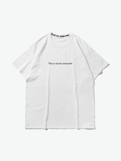 Fuck art,make tees|Fuck art,make tees|男款|T恤|F.A,M.T.  This is not for everyone. slogan 白色T恤