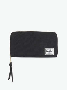 Herschel Supply|男|女|Herschel Supply Thomas RFID Black LOGO贴布拉链小钱包