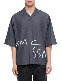 OAMC|男|OAMC Vacuum S/S Shirt, Micro Striped Numeral Print