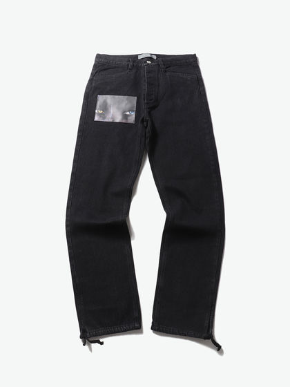 GEO|GEO|男款|牛仔裤|GEO BLACK DENIM PANTS