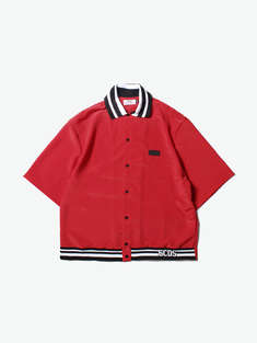 GCDS|男|GCDS SHORT SLEEVES SHIRT 03 RED