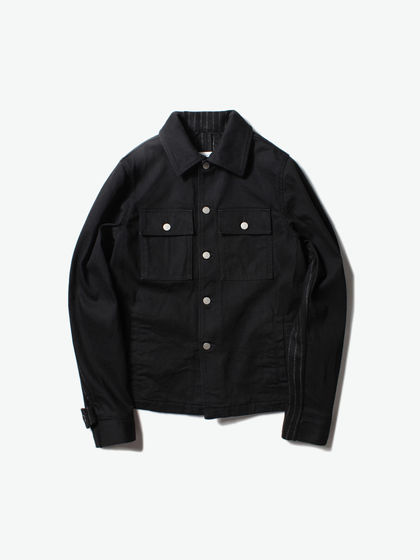 Maison Margiela|Maison Margiela|男款|夹克|Maison Margiela   12 oz Black + Exclusive Pinstripe Cloth